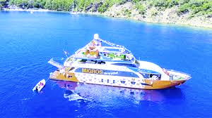 Floating Migros supermarket at Gocek and Fethiye