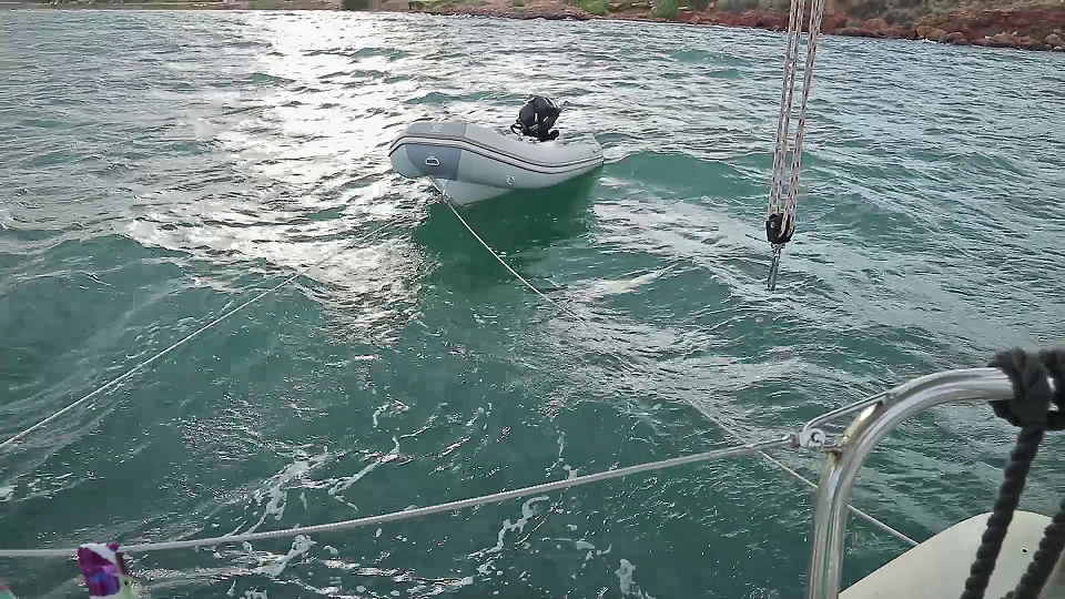 A new line on the dinghy