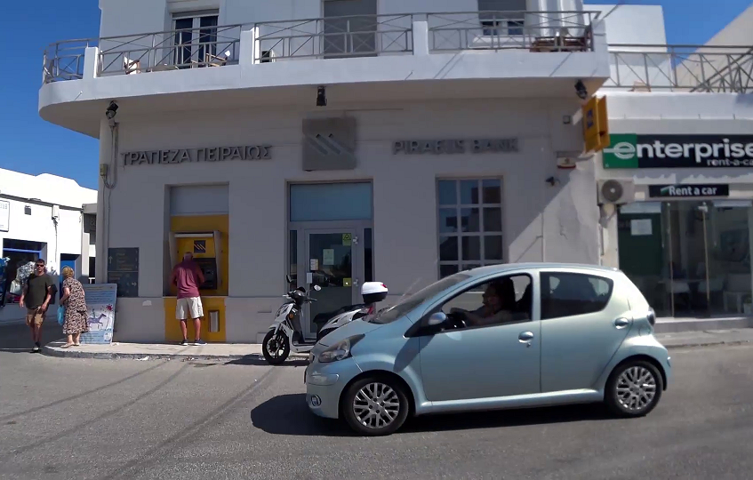 The only bank in Milos port