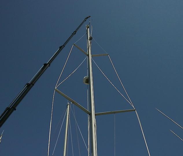 Reinstalling mast 2