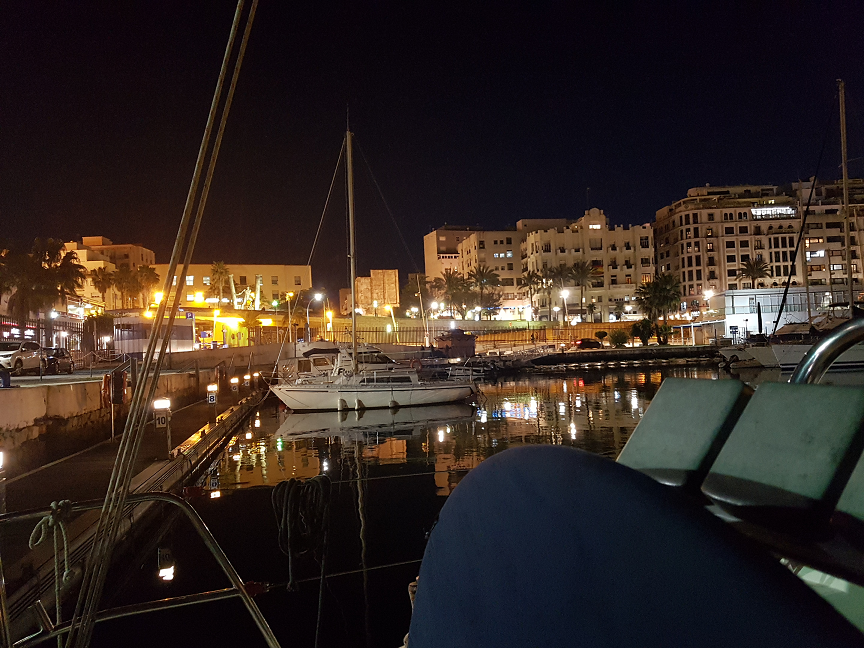 Alcaidesa Marina at night