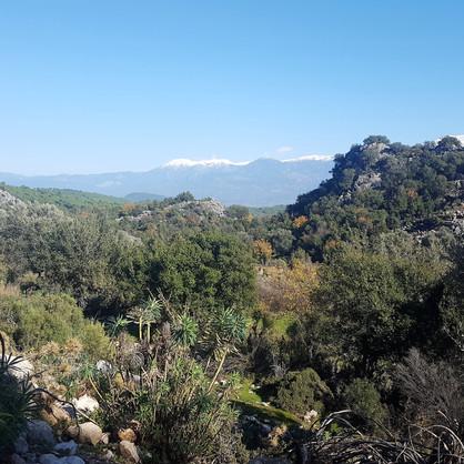 Pinara view of snow mountains