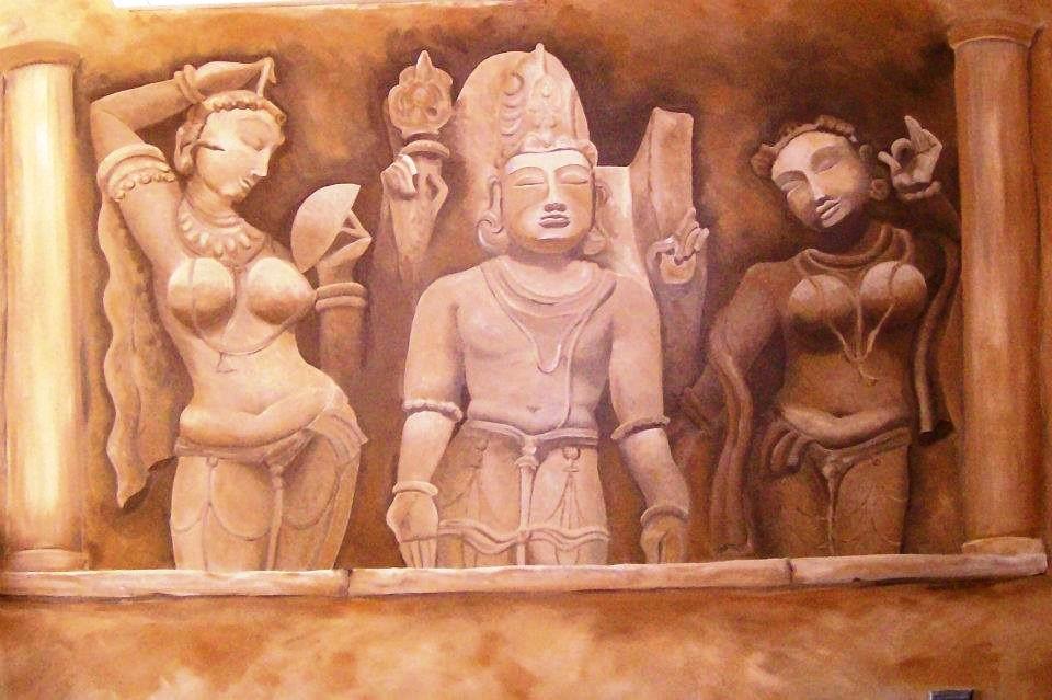 Mural of Vishnu