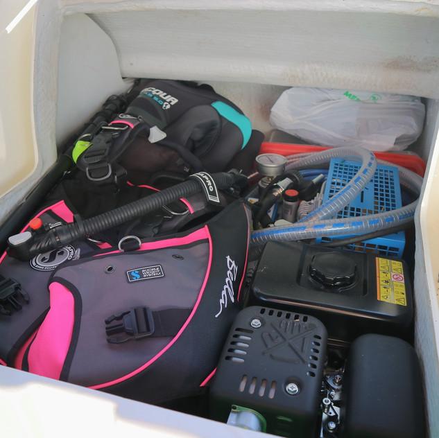 Our scuba locker