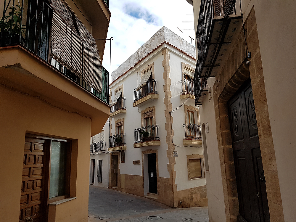 Javea old town is a maze of narrow alleways