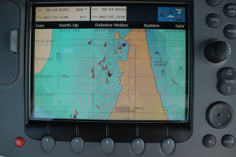 AIS equipped vessels on our plotter