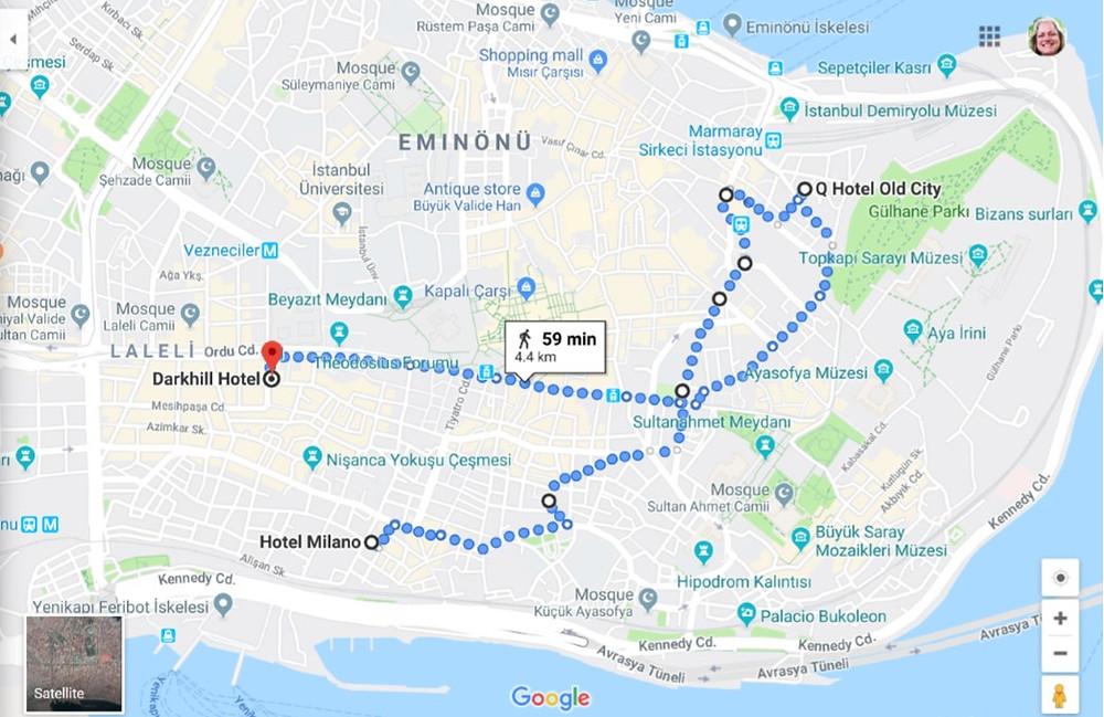 Trek across Istanbul for a hotel