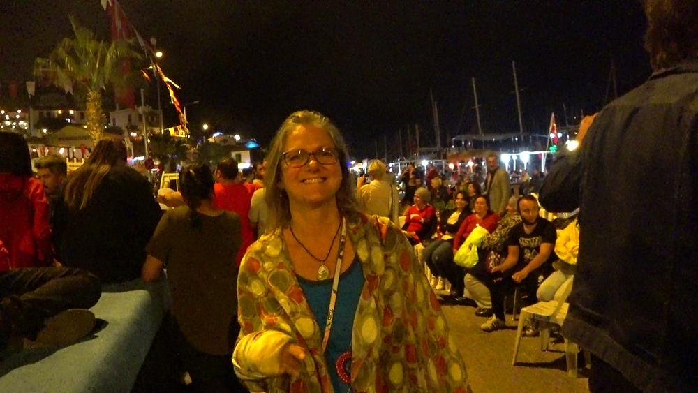Dancing with my Turkish shawl