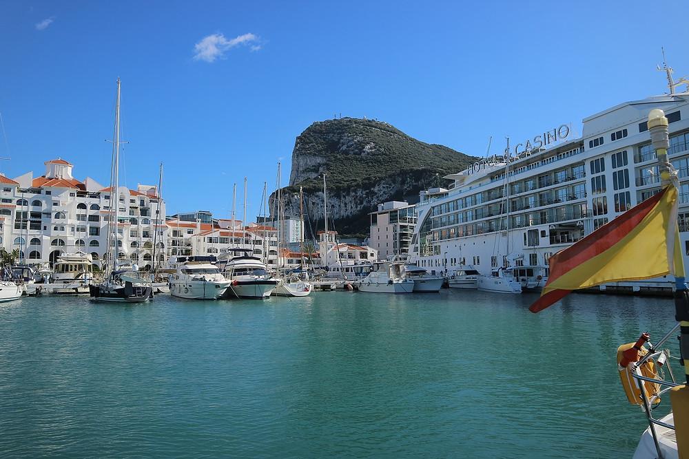 Gibraltar marina with sunborn hotel & casino