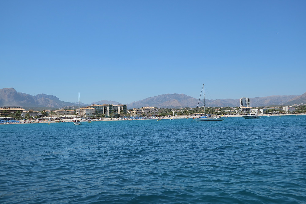 Looking towards the beach at L'Albir
