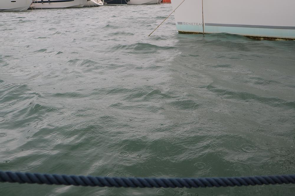 The rain is giving A B Sea a fresh water wash down