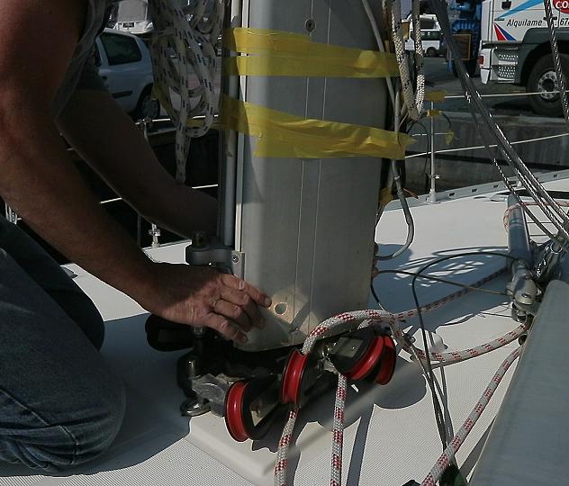 Reinstalling mast 1