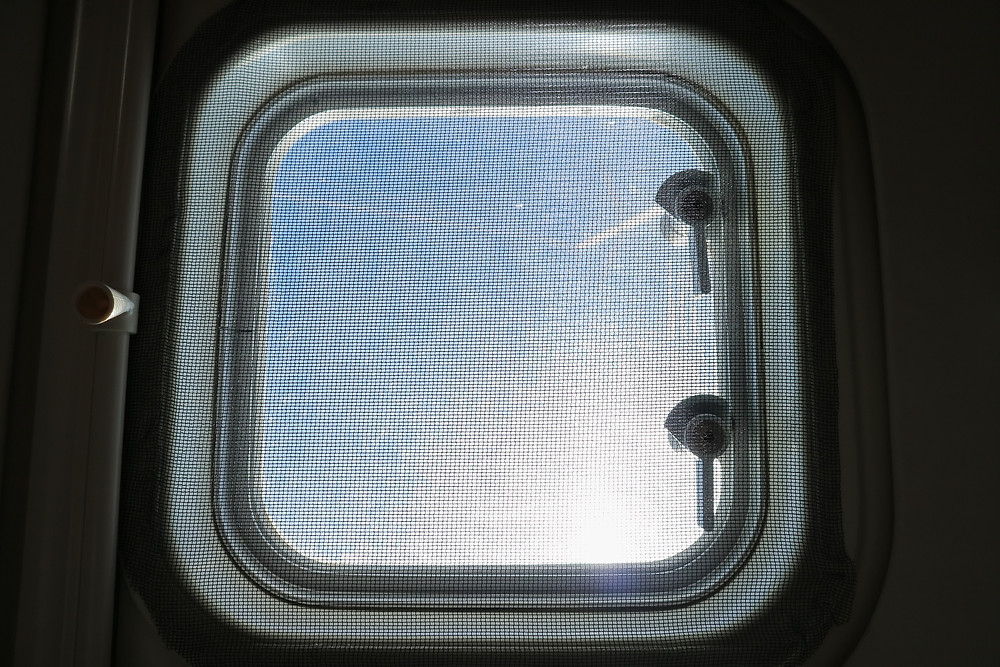 Insect screen on hatch