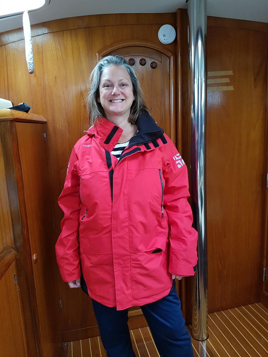 Aannsha so pleased with her new offshore wet weather jacket