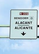 Valencia road signs