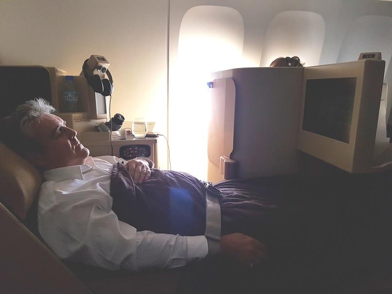 Enjoying a full body massage.