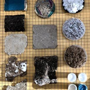 Material exploration trial samples