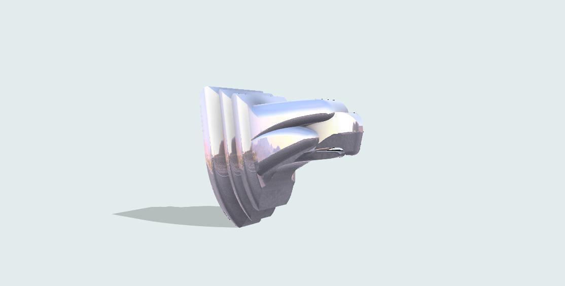 CAD rendering of digital model