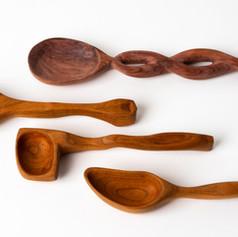 sculptural spoon collection