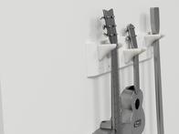 modular pegboard guitar rack