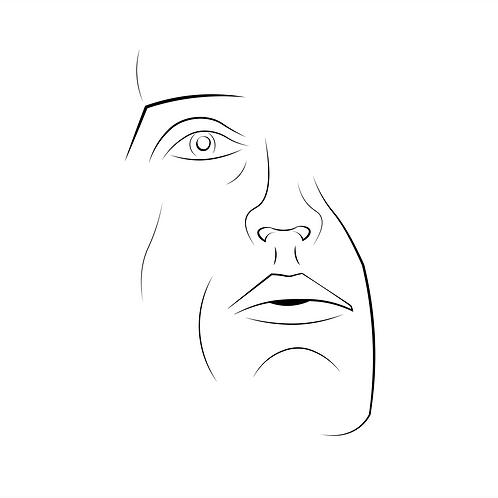 1 of 3 Faces Serigraph Print