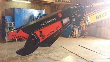 Tesoura hidráulica para demolição