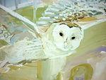 Laua Vecmane, Painting, Owl Landscape