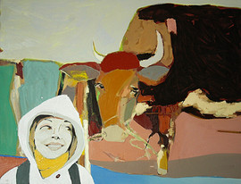 Self Portrait with the Cow