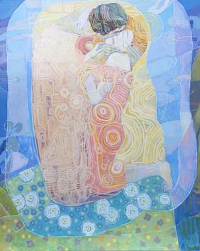 "Healing Love. Remake After Gustav Klimt's ""Kiss"""