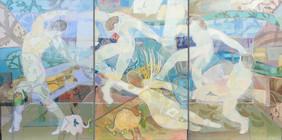 Triptych - I AM THAT, I Am. Remake After Henri Matisse