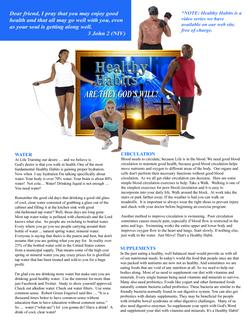 Health Habits A