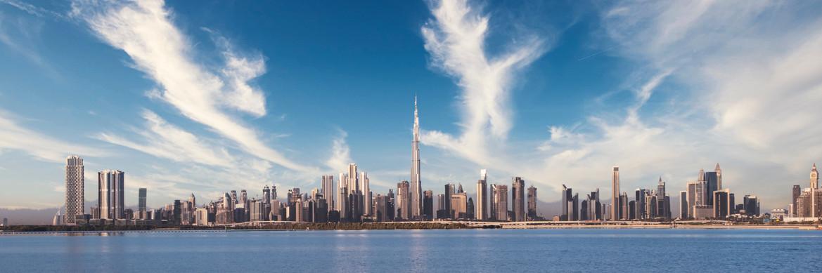large panorama of Dubai