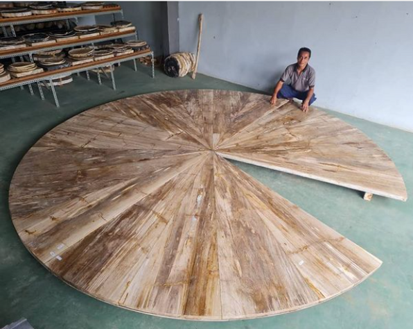 Petrified Wood Round Dining Table