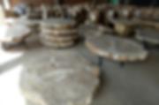 Petrified Wood Slab Table