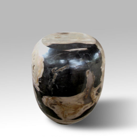 Petrified Wood Barrel Stool