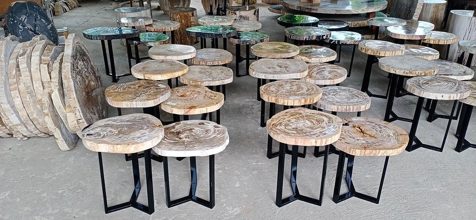 Petrified Wood Nesting Tables