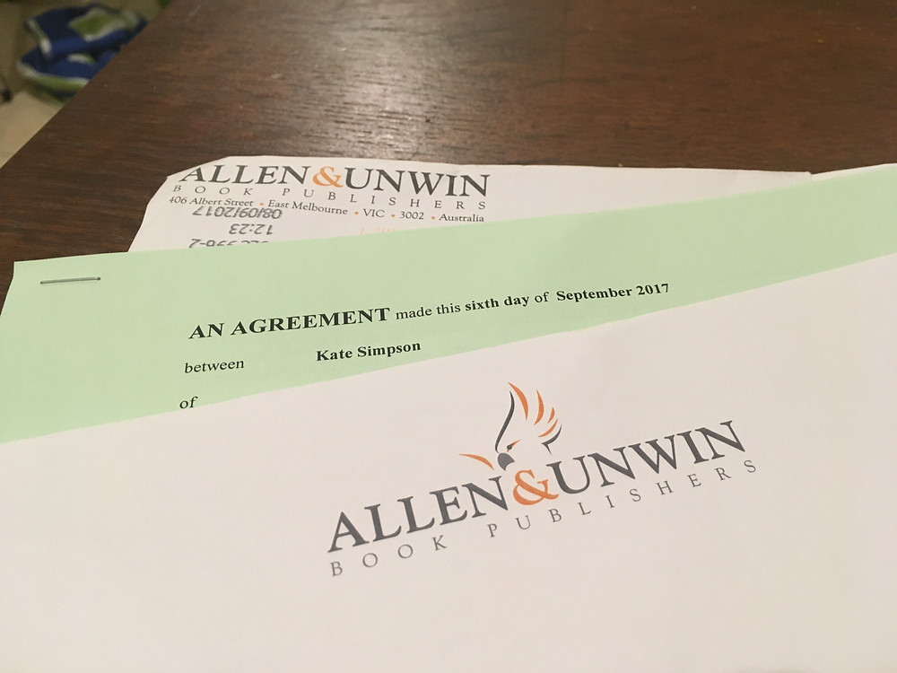 Allen and Unwin; contract; publishing deal; picture book; Kate Simpson author