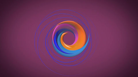 A logo in a spiral small video.