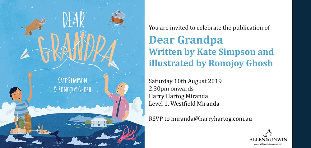 Invitation to Dear Grandpa Book Launch
