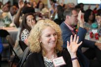 Attendee participates in Niki Brown's keynote