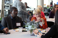 Attendees engage in important discussion