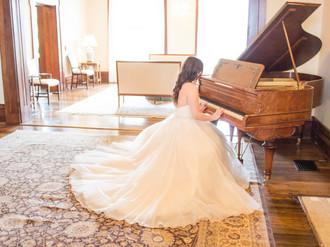 Event Rooms - Piano & Bride - TC Photogr