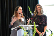Conference attendee and Krystal Ball