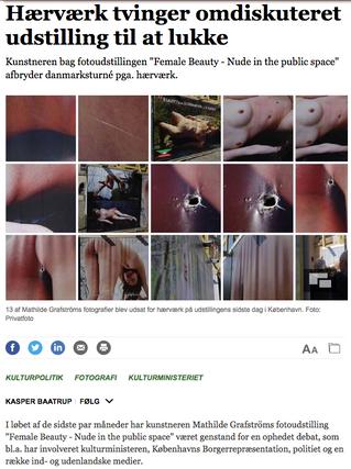 Jyllandsposten: Hærværk tvinger omdiskuteret udstilling til at lukke