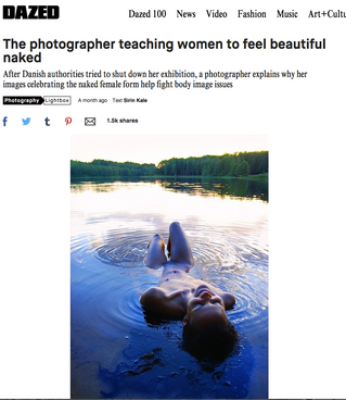 DAZED - The photographer teaching women to feel beautiful naked