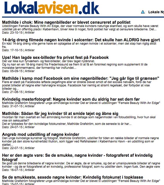 Liste over artikler af Lokalavisen.dk