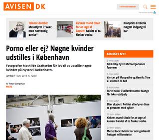 www.avisen.dk: Porno eller ej? Nøgne kvinder udstilles i København