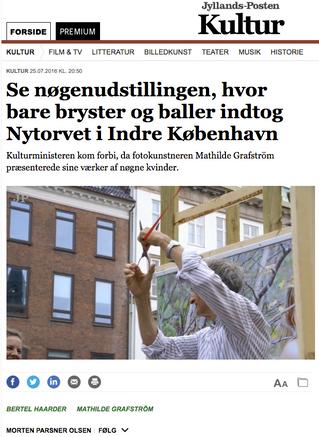 Jyllandsposten: Se nøgenudstillingen, hvor bare bryster og baller indtog Nytorvet i Indre København