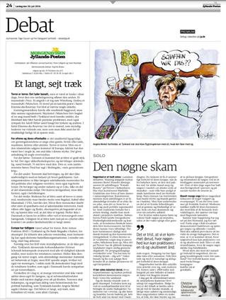 Klumme i Jyllandsposten: Den nøgne skam/Nøgenheden har mistet sin uskyld