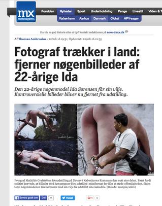 MX: Fotograf trækker i land: fjerner nøgenbilleder af 22-årige Ida